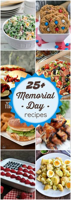 More than 25 recipes perfect for Memorial Day – and all summer long! More than 25 recipes perfect for Memorial Day – and all summer long! Memorial Day Desserts, Memorial Day Foods, Memorial Day Celebrations, Memorial Weekend, Summer Recipes, Holiday Recipes, Great Recipes, Favorite Recipes, Holiday Foods