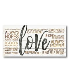 Look what I found on #zulily! 'Love' Word Art Wrapped Canvas #zulilyfinds
