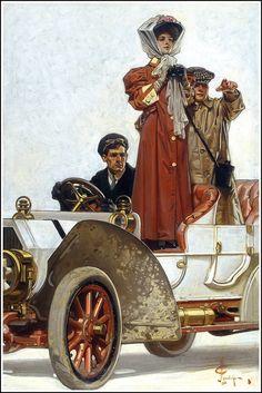 J.C. Leyendecker (1874-1951) Motoring, 1906.