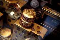 Gold-Foiled Macaron from Laduree