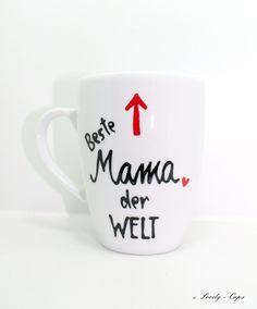 schöne Muttertag Tasse für MAMAs Muttertags Fest von Lovely-Cups via dawanda.com