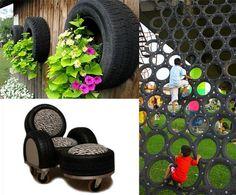 Ano, i staré pneumatiky mohou zútulnit váš byt i zahradu.