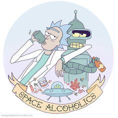 Love this! Futurama meets Rick & Morrty! ❤❤❤