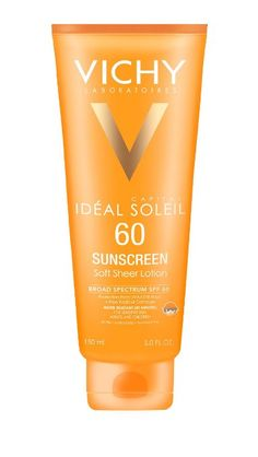 Vichy Capital Soleil SPF 60 Soft Sheer Sunscreen Lotion for Face and Body with Antioxidants and Vitamin E