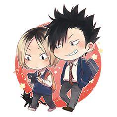 Haikyuu!! ~~ Kuroo and Kenma by ayame [pixiv]