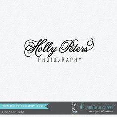 Premade Photography Logo Design - 2 font logo design - Photography Watermark - Logo Watermark - Business Branding - Business Branding on Etsy, $30.00