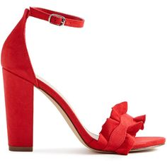 ShoeDazzle Sandals-Dressy - Single Sole Caleya Heeled Sandal Womens... ❤ liked on Polyvore featuring shoes, sandals, red, sandals-dressy - single sole, fancy footwear, red sandals, red heeled sandals, dressy shoes and fancy shoes
