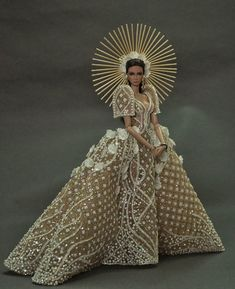 t's been an amazing year as your Miss Beauty Doll Philippines Almost snatched the crown but I know deep in my heart you are still Barbie Gowns, Barbie Dress, Barbie Clothes, Fashion Royalty Dolls, Fashion Dolls, Fashion Dresses, Modern Filipiniana Gown, Dress Dior, Barbie Stil