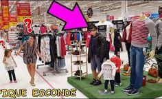 ESCONDE-ESCONDE NO (SUPERMERCADO) COM DISFARCE DE MANEQUIM