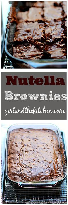Get ready for the gooeyest, fudgiest ULTIMATE brownie. Nutella brownies my dear friends is what all chocolate dreams are made of.