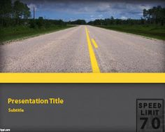 Highway PowerPoint Template | Free Powerpoint Templates