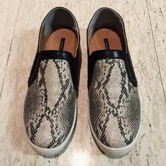 SOVO | Snakeskin Sneakers Slip On • Korean Made Super trendy platform sneakers! Only worn once, in perfect condition. It fits like 7.5 so it's too small for me. Don't miss out this cutie  SOVO Shoes Sneakers