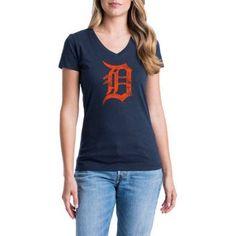 Detroit Tigers Womens Short Sleeve Graphic Tee, Women's, Size: XL, Blue
