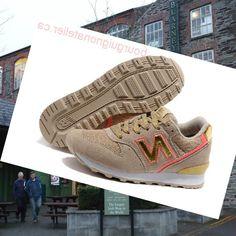 super cute 6c467 38355 Imréitigh Iarmhéid Nua 996 Bróga Ban i Buff agus Óir New Orleans Cushioned  Running Shoes,
