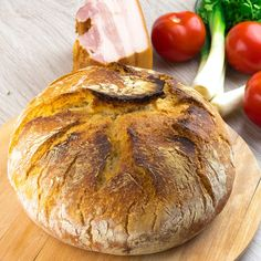 Pâine de casă fără frământare – pufoasă și gustoasă, așa cum o făcea bunica - savuros.info Multicooker, Dough Recipe, Baked Potato, Camembert Cheese, Good Food, Food And Drink, Homemade, Ethnic Recipes, Crafts