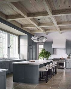 When you're building a room, you're building character- and character is the strength and wisdom of a home... Rose Tarlow (A favorite recent kitchen with character- still sometimes even in the kitchen you need a little bit of jewelry!)