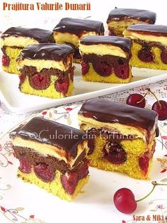 cake decorating ideas for beginners simple cake decorating ideas for birthdays cake decoration ideas with chocolatecake decoration at home easy cake decorating ideas for kids Romanian Desserts, Romanian Food, Dessert Drinks, Dessert Bars, Sweets Recipes, Cake Recipes, Wave Cake, Pam Pam, Cherry Recipes