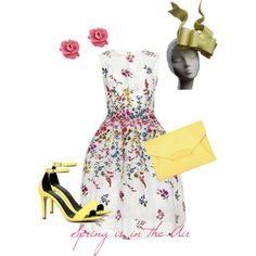 Spring is in the Air Racing Fashion by fashionatraces on Polyvore featuring Oscar de la Renta, ALDO, Givenchy and MARC BY MARC JACOBS