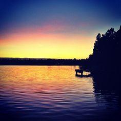 Gorgeous sunset at Greenlake for #lightthenight  (Taken with Instagram at Green Lake Park)