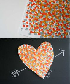 Fingerprint Heart - #Easy way for kids to participate in the fun #gift