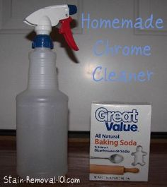 Simple, frugal and natural homemade chrome cleaner and polish recipes {on Stain Removal