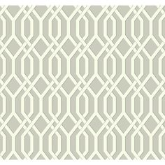 "York Wallcoverings Ashford Geometrics Garden Pergola 27' x 27"" Geometric Wallpaper & Reviews | Wayfair"