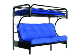 Futon bunk beds - Futon is very useful pieces of furniture sofa / bed combination style. It is also possible to build bunk beds of the futon so you have a Couch Bunk Beds, Bunk Beds Small Room, Beds For Small Spaces, Modern Bunk Beds, Metal Bunk Beds, Futon Bed, Headboards For Beds, Kid Beds, Loft Beds
