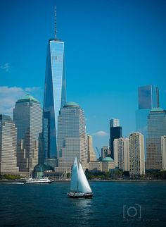 One World Trade Center [looking from New Jersey across the Hudson River]