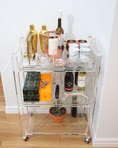 Bar Cart Decor - http://weworewhat.com/interior/5113/