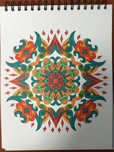 ColorIt Mandalas to Color Volume 1 Colorist: Lisa Lifton Lubrano #adultcoloring #coloringforadults #mandalas #mandala #coloringpages