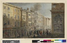 George Scharf: From Regency Street to the Modern Metropolis, London - The Strand from the corner of Villiers Street c1824