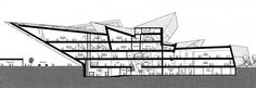 Denver Art Musuem. Section View. Libeskind