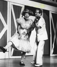 Minnie Pearl & Roy Acuff on Opry Stage
