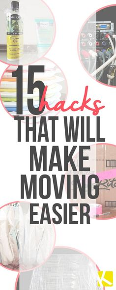 15 Incredible Moving Tips That Will Save You Time and Money These moving tips are going to save you time and money! Whether your downsizing or moving into your first home, these tricks will make the process easier! I would have NEVER thought of