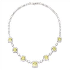 Lot 33| Beautiful Yellow & White Diamond Necklace. #Jewelry #DiamondNecklace ~Melissa McInnis~