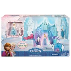 Your little one will love to recreate the action of the hit film Frozen with the Disney Frozen Elsa Doll Castle Playset