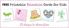 free printable valentine cards for kids Free Printable Cards, Printable Valentine, Valentine Cards, Free Printables, Homemade Valentines, Valentines For Kids, Valentine's Cards For Kids, Homemade Gifts, Door Ideas
