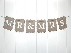 cricut banner for the head table but using the stitch letters