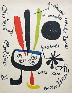 The Bird Flies Away by Joan Miró. 1952