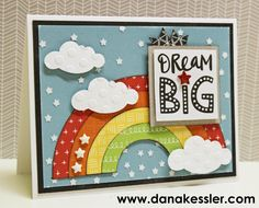 November Stamp of the Month Cheers Dream Big Rainbow Card #ctmh #sotm #cards #scraptabulousdesigns