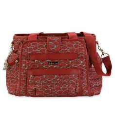 Carry your baby's gear in style with the Kalencom Nola Featherweight Quilted Diaper Bag Tote. Pretty, practical and super-lightweight, the modern design looks more like a purse than a baby bag, allowing you to go from play date to date night with ease. Fashionable Diaper Bags, Diaper Bag Essentials, Diaper Bag Organization, Baby Diaper Bags, Mens Gift Sets, Online Bags, Kids Lehanga, Bath, Red