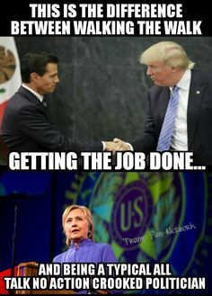 TRUMP walks the walk, while Hillary can't get around without emergency medical care specialists at the ready. Forget Hill, Vote Trump '