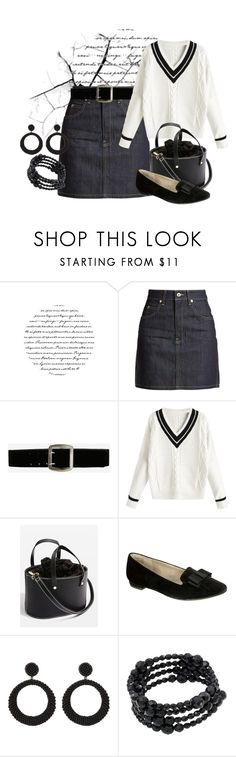 """Untitled #1365"" by saritanwa ❤ liked on Polyvore featuring Eve Denim, Express, Topshop, Rialto, Henri Bendel and Carolee"