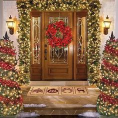 simple outdoor christmas decorations ideas - Google Search
