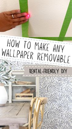 Rental Decorating, Decorating Small Spaces, Decorating Tips, Diy Wall Decor, Diy Home Decor, Home Projects, Projects To Try, Small Apartment Living, Painters Tape