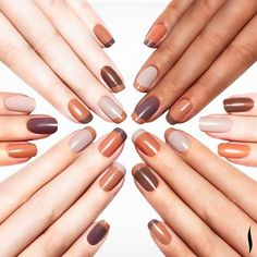 Natural shades of mocha and taupe nail color by Sephora!