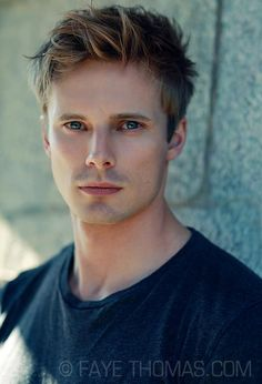 Bradley James. Holy hotness. Haha I pinned the black and white version of this too, but hes so hot ill do both