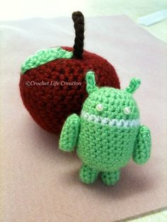 Apple VS Android #amigurumi #crochet