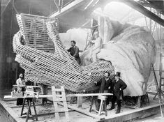 Statue of Liberty construction, Paris 1877