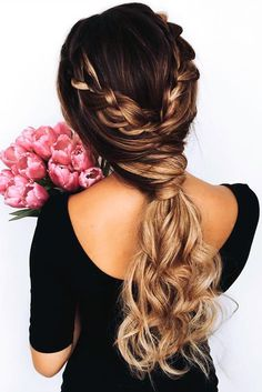 Fun and Fancy Hairstyles for Thick Hair ★ See more: http://lovehairstyles.com/fun-fancy-hairstyles-for-thick-hair/